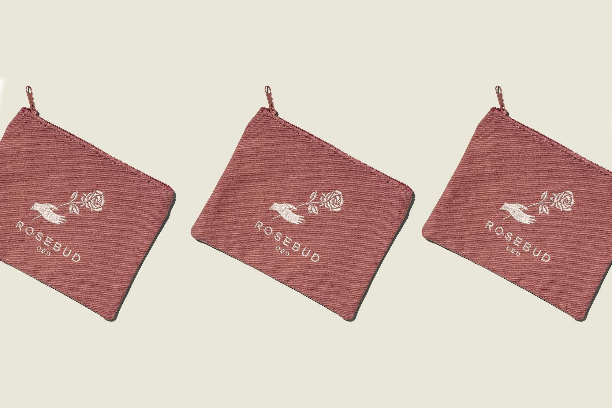 Three flat zip pouches