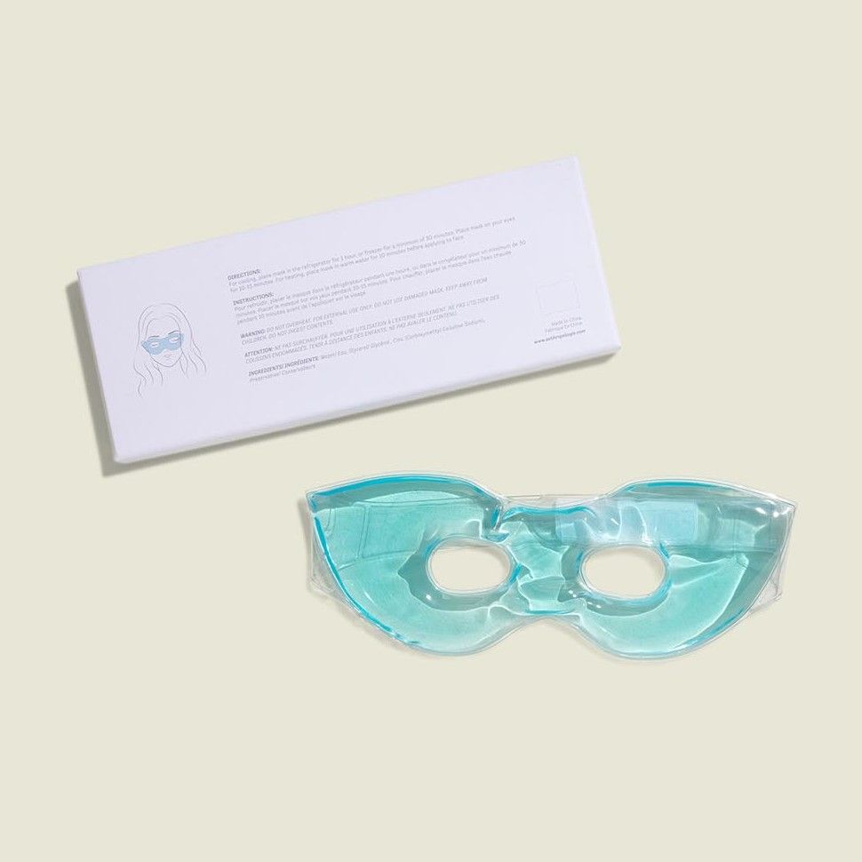 Eye mask with instructions