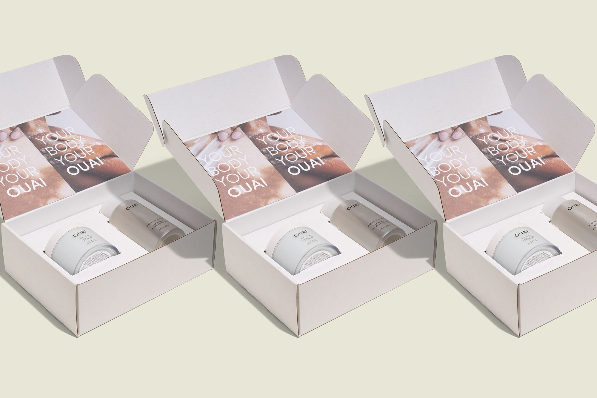 Custom packaging with beauty products