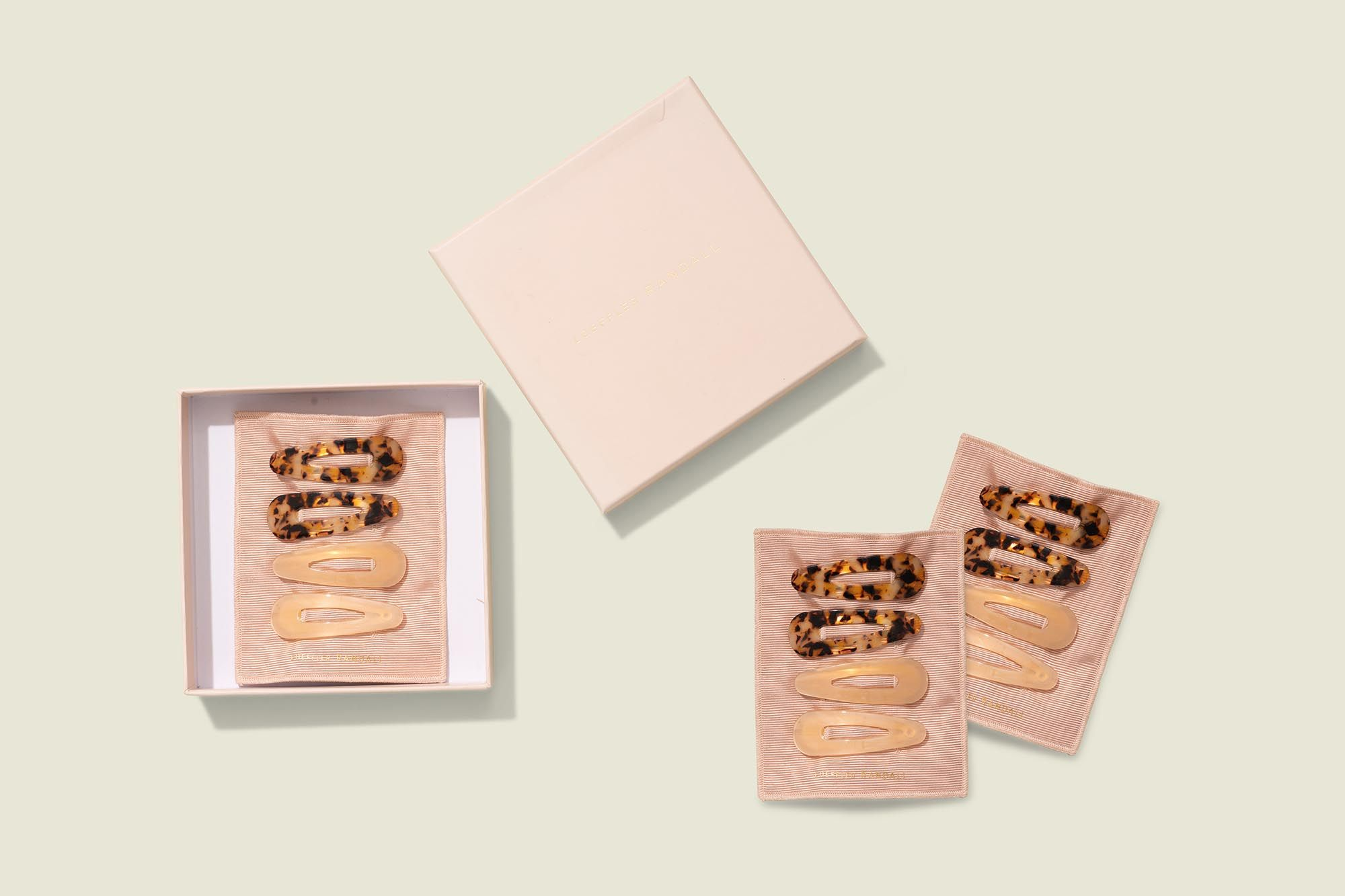 Custom packaging with hair clips