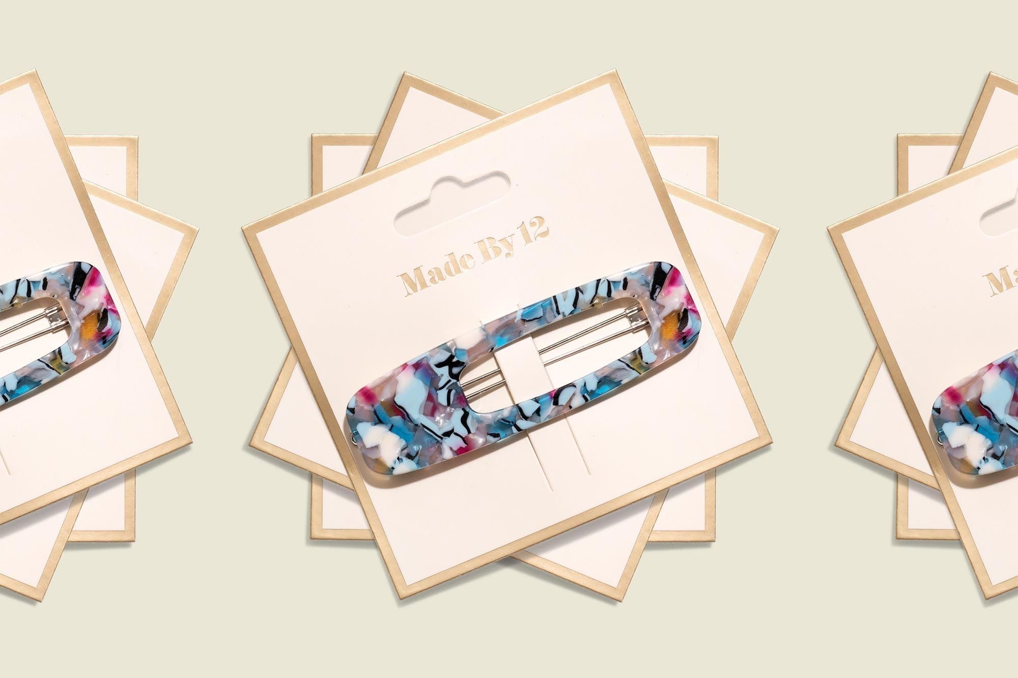 Custom packaging with hair clip