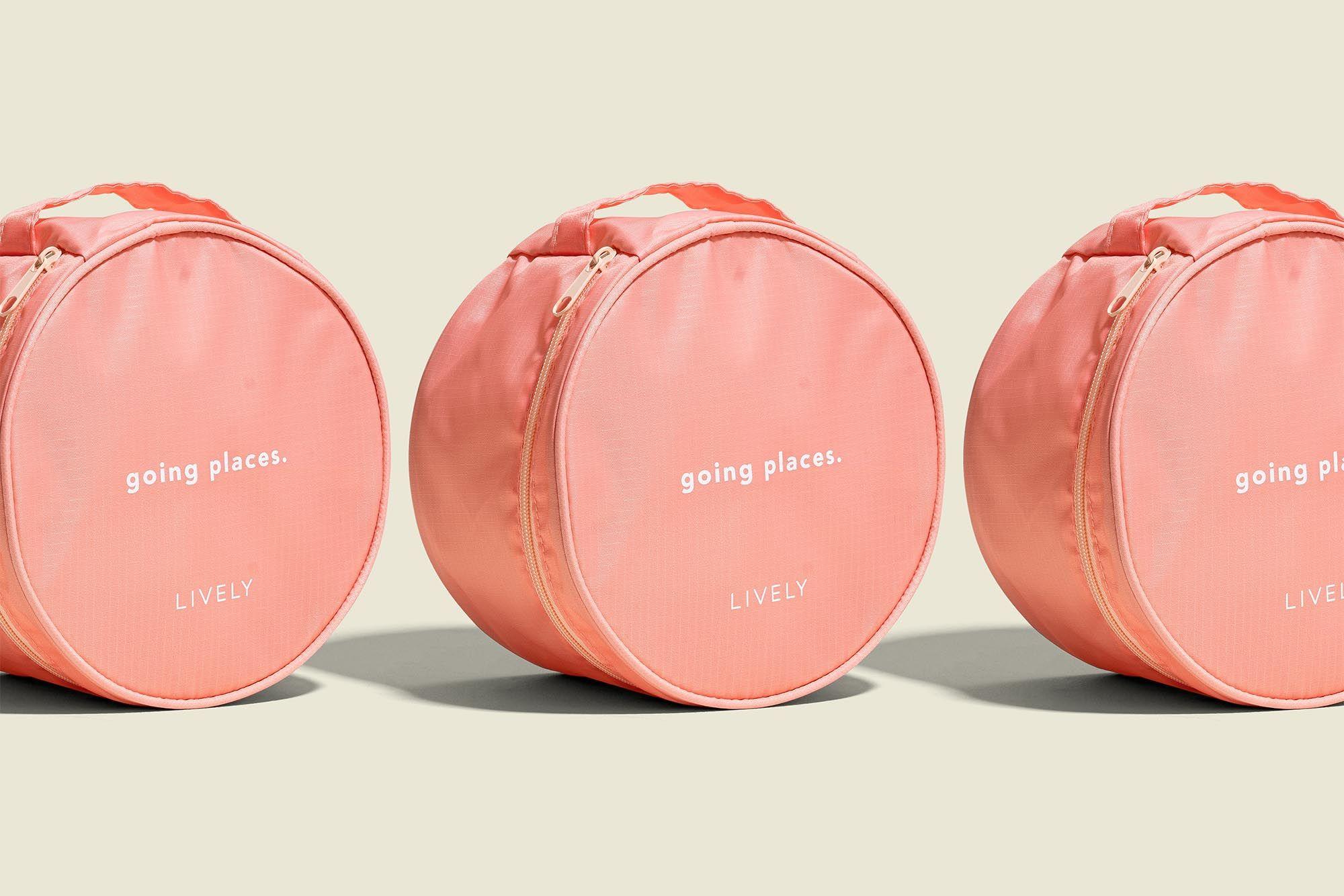 Round zip pouches