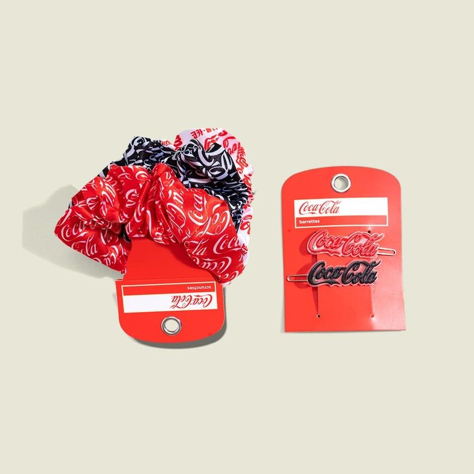 Custom packaged scrunchies and hair clips
