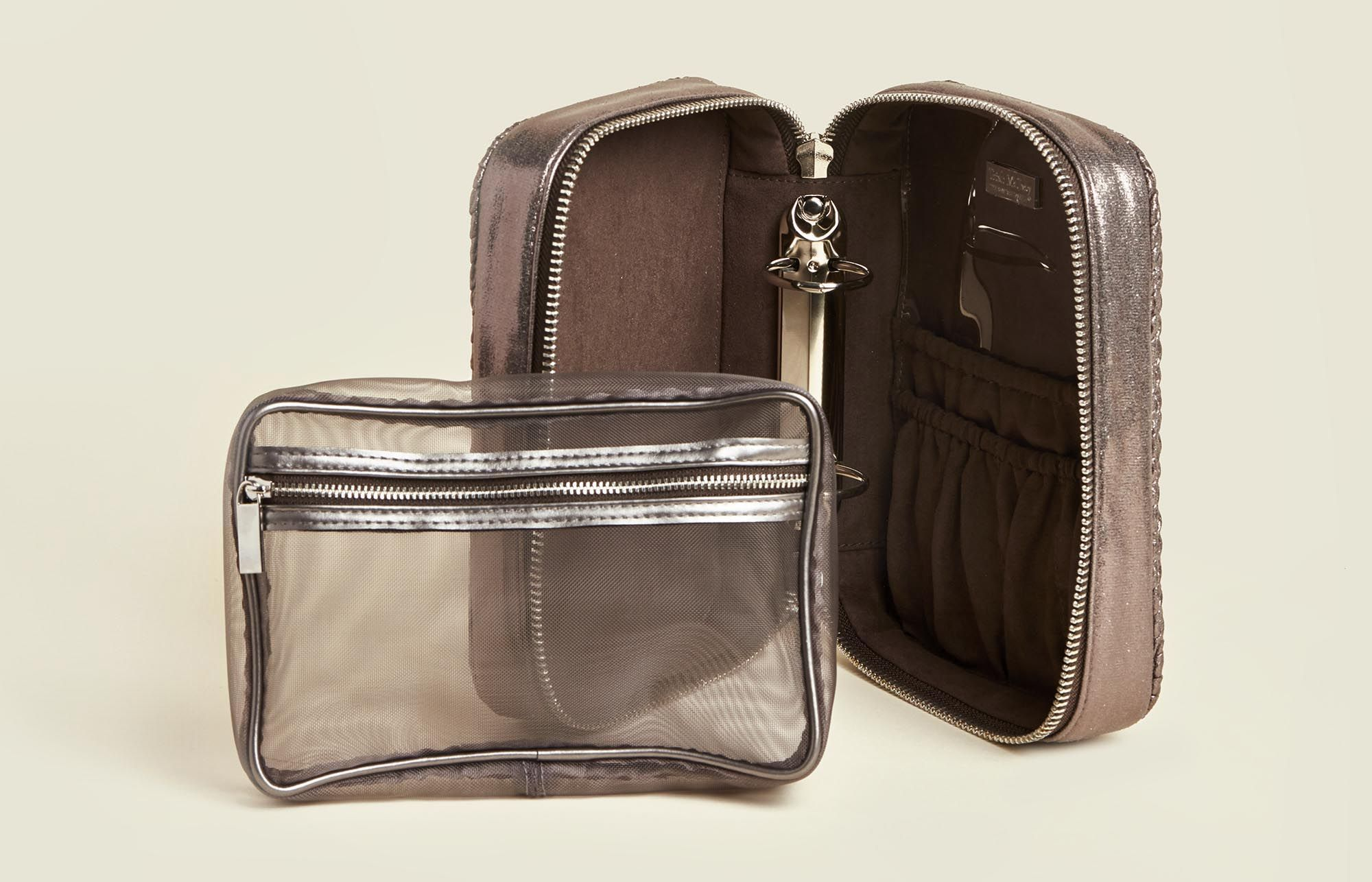 Set of standing zip pouches