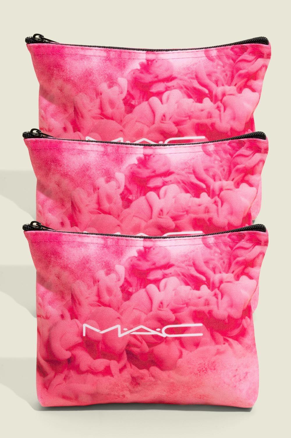 Three standing zip pouches