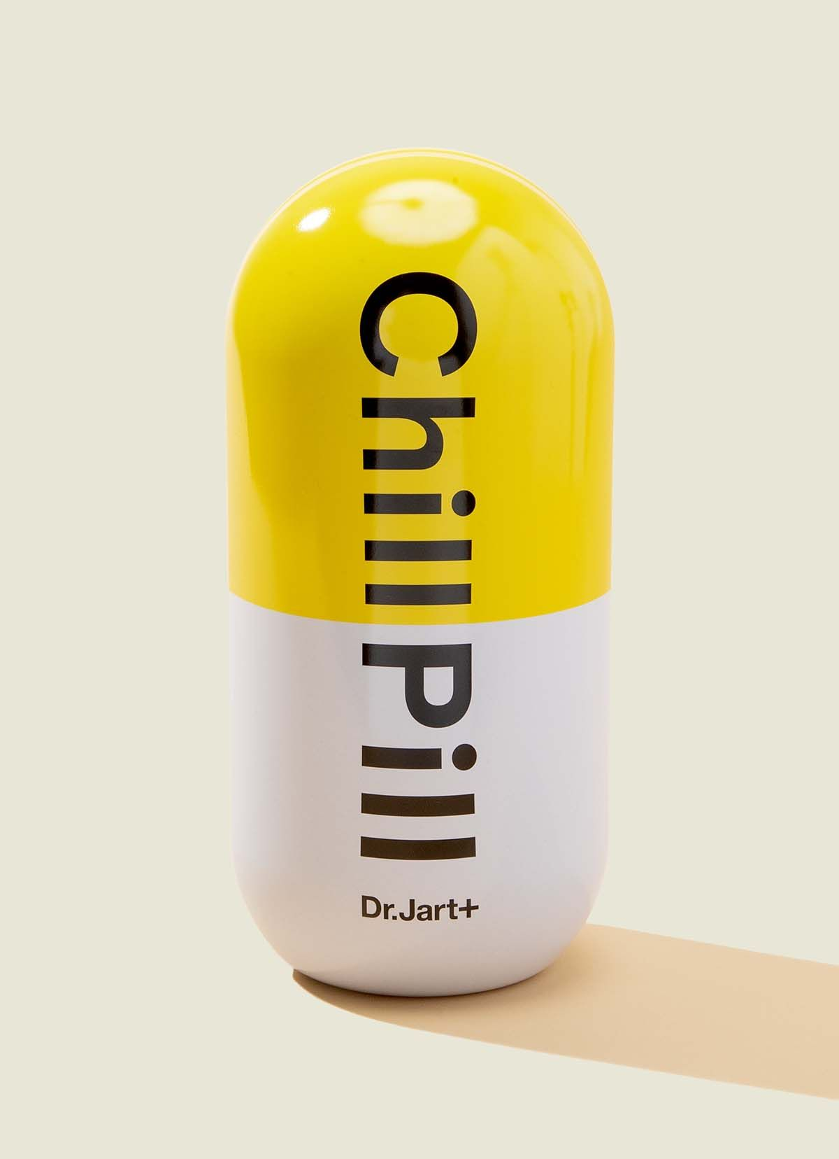 Tin pill-shaped packaging