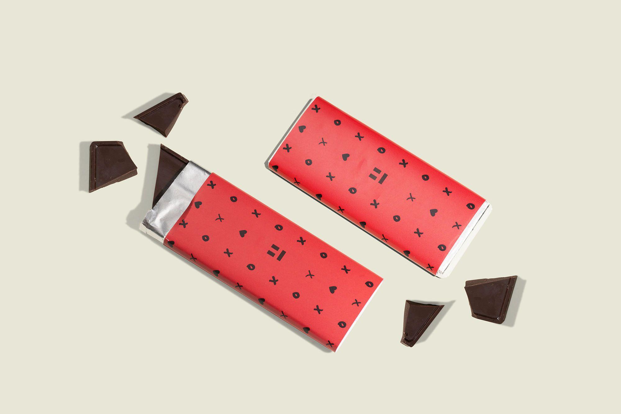 Custom wrapped candy bar