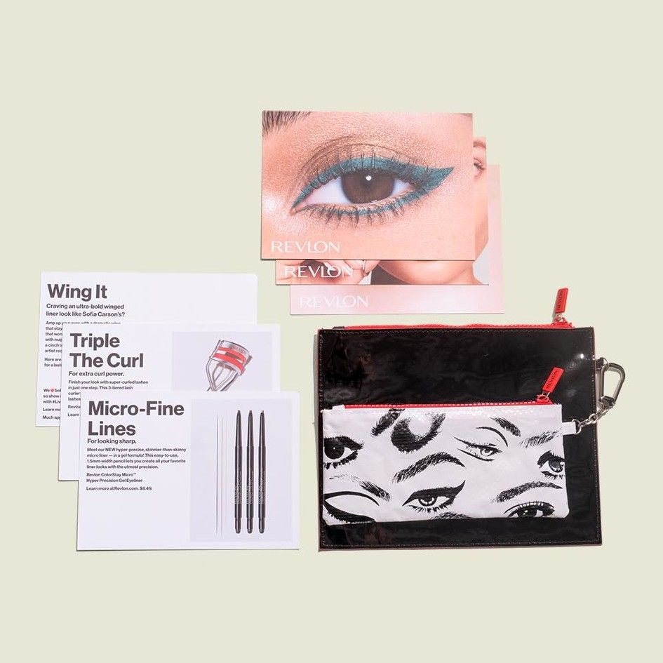 Flat zip pouches with information cards