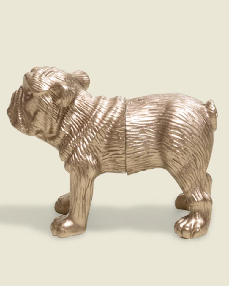 Metal placecard holder in shape of a dog