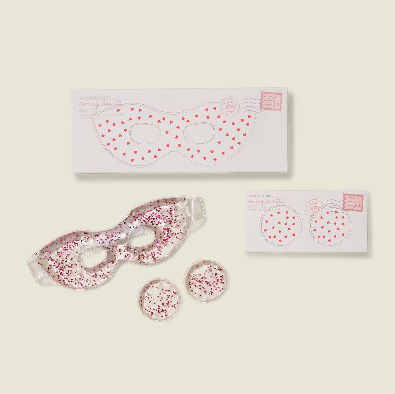 Custom packaging with glitter eye mask and eye pads
