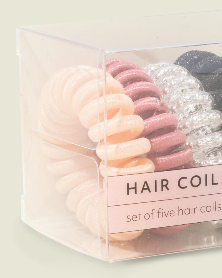 Custom packaging with hair coils