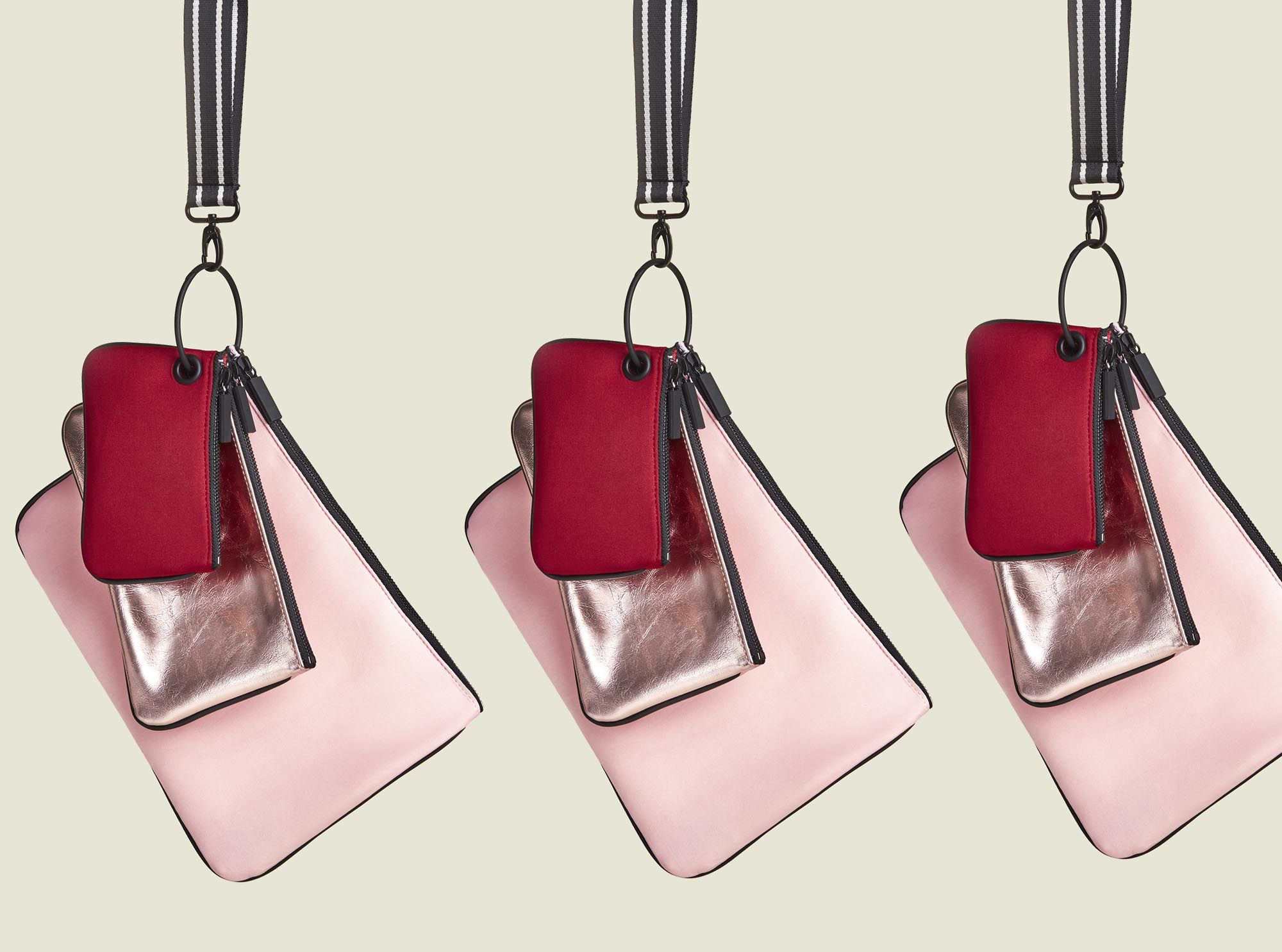 Zip pouches with string