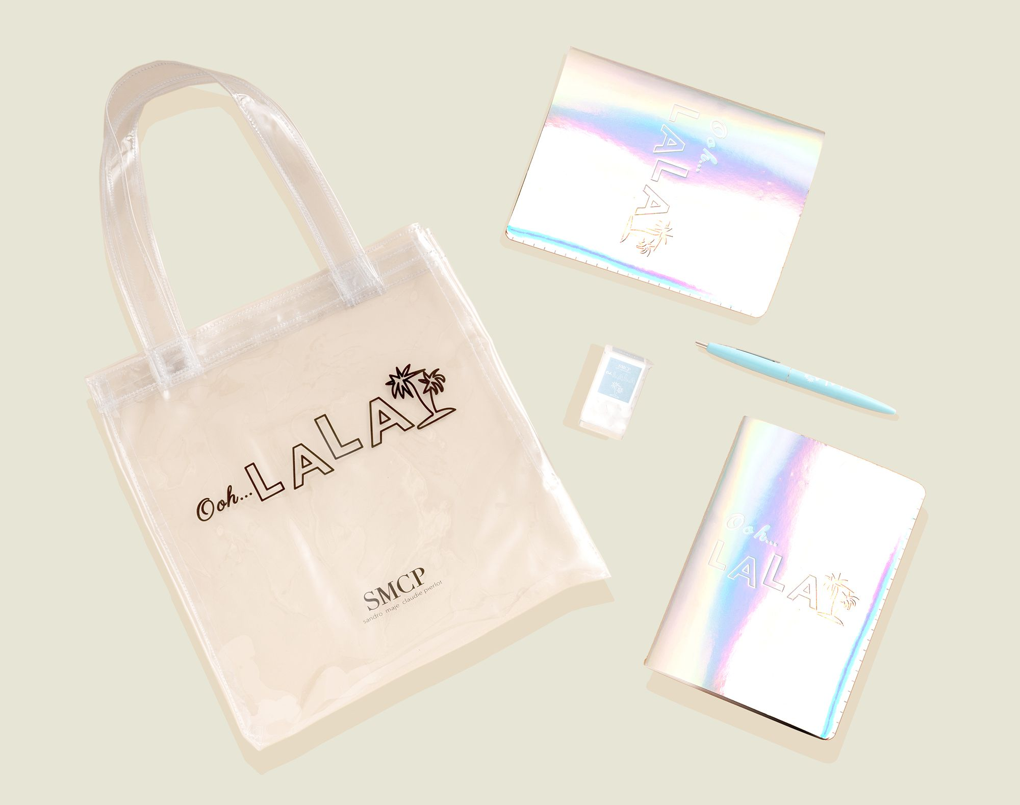 Tote bag with journals and pen