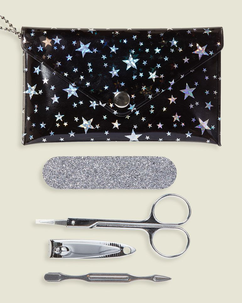 Manicure set with flat pouch