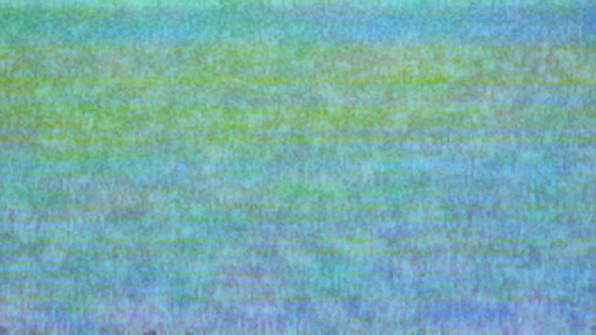 Glitchy vintage vhs video of a moving cloud