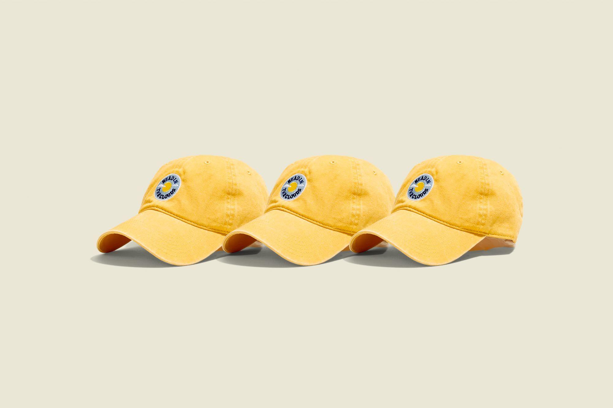 Three yellow hats