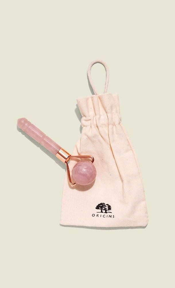 Drawstring pouch with jade rollers