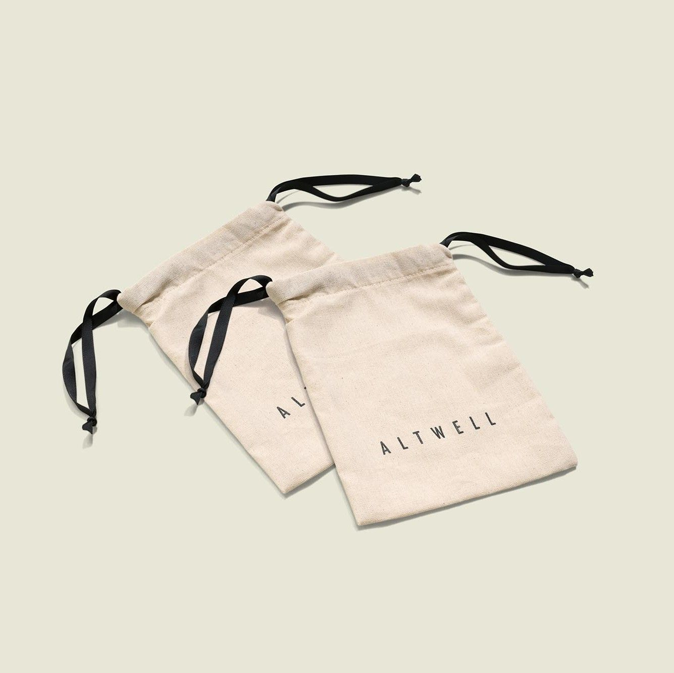 Two drawstring pouches