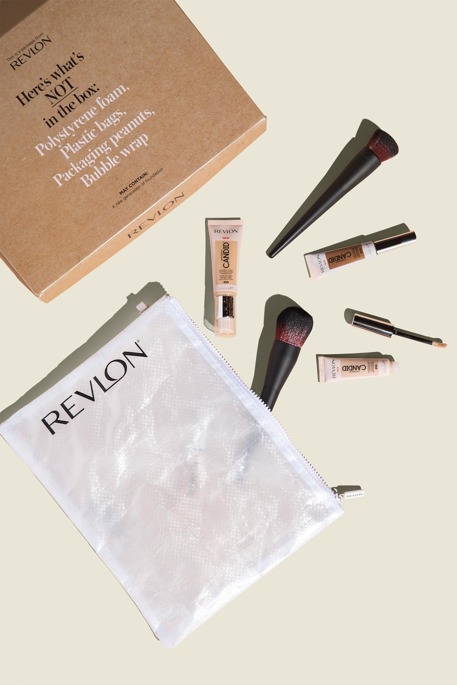 Custom packaging with flat zip pouch and beauty products