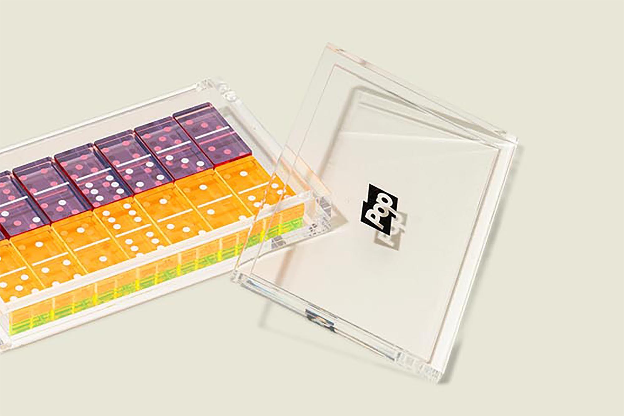 Custom colorful dominoes