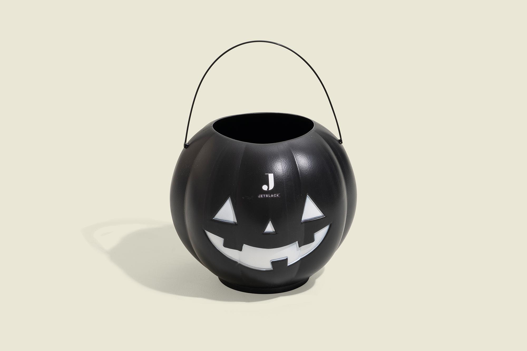 Black halloween pumpkin