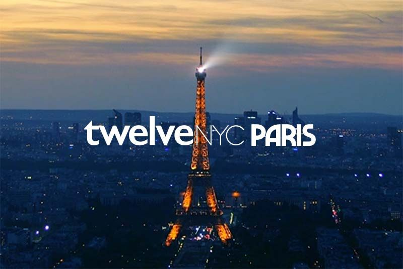 twelveNYC paris image with blue background and Eiffel tower