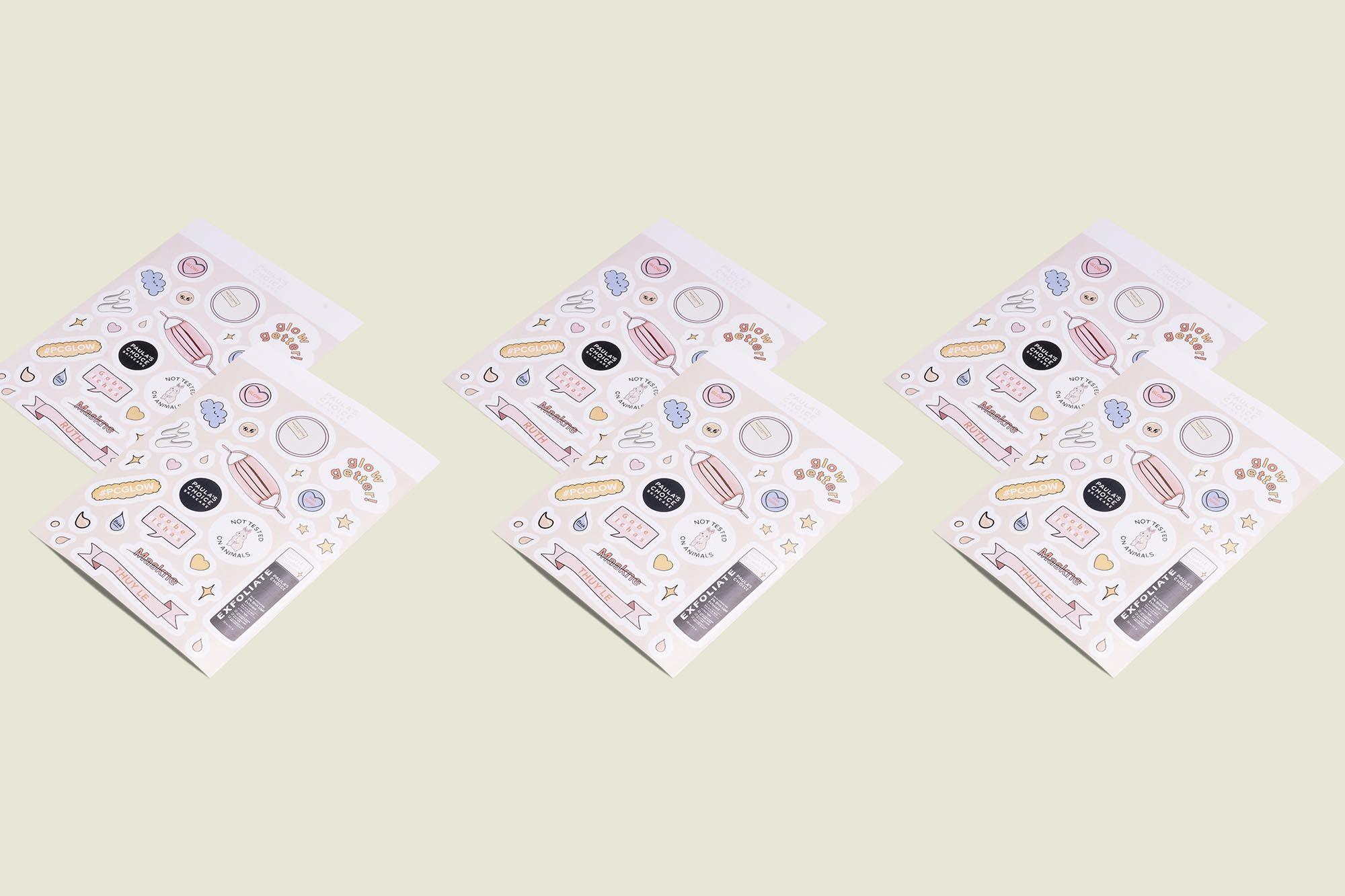 Set of sticker packets