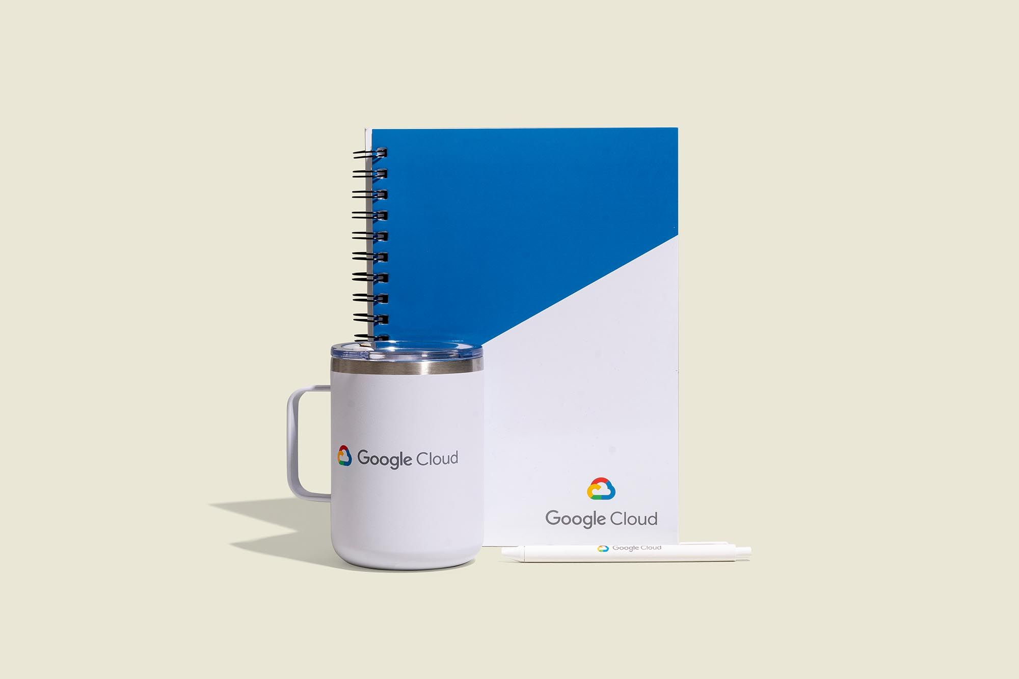 Thermos cup with journal and pen