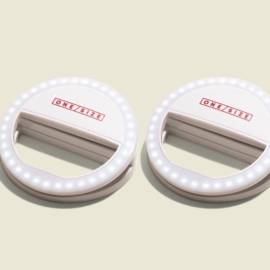 Two selfie ring lights