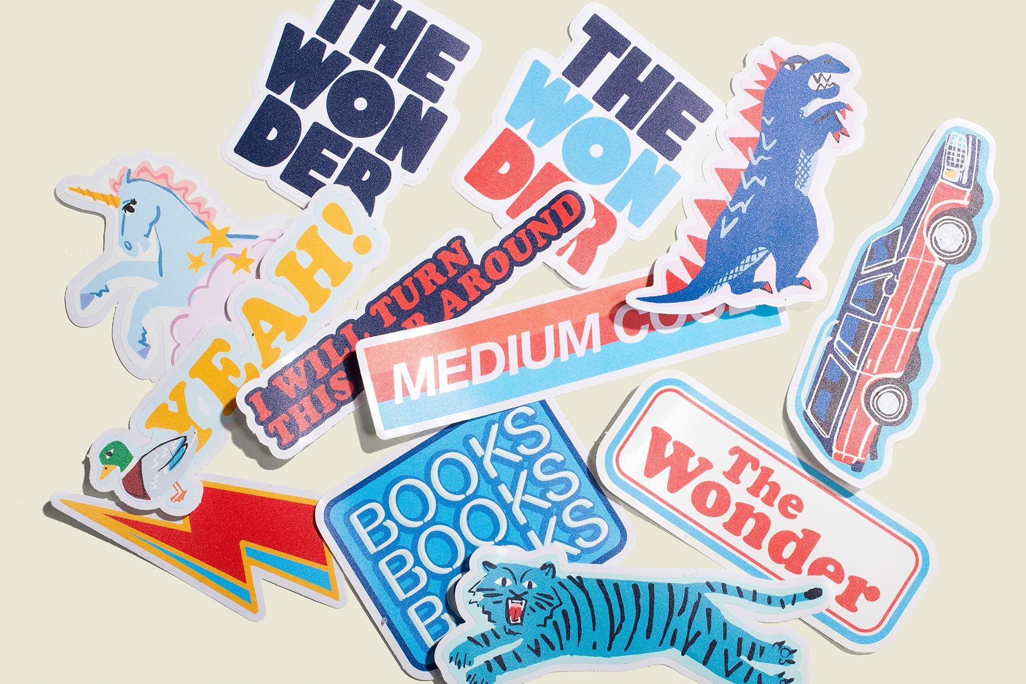 """""""The Wonder"""" stickers"""
