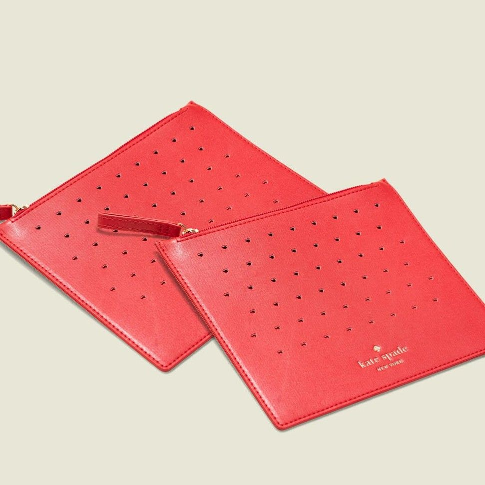 Red flat pouch