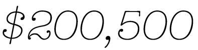$200,500