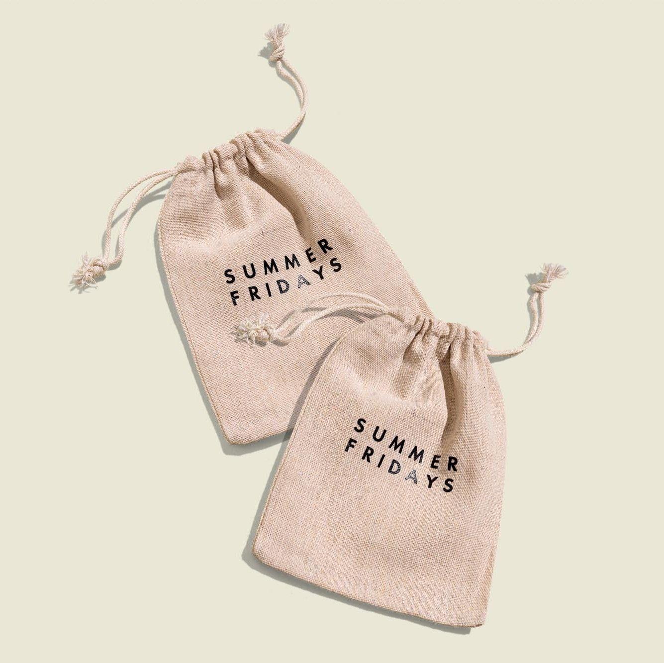Set of drawstring pouches