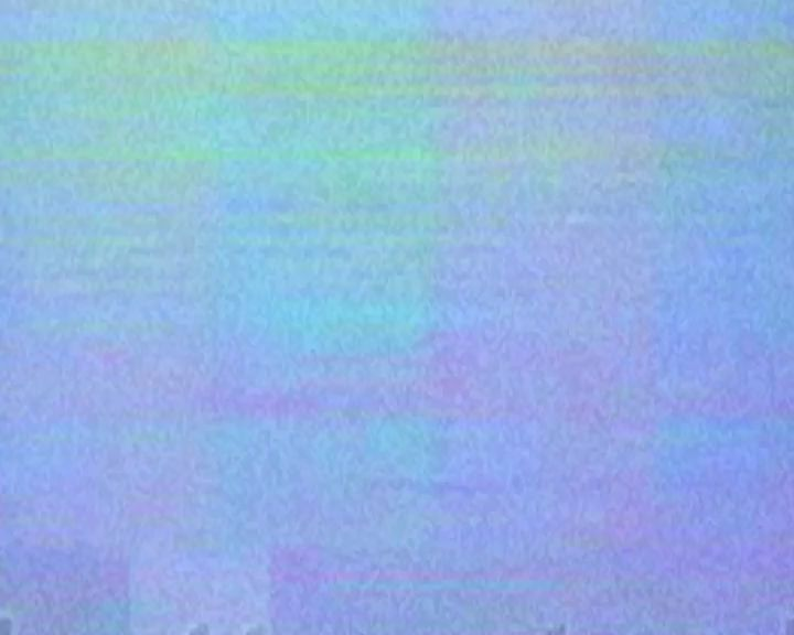 Clouds with glitchy VHS effect