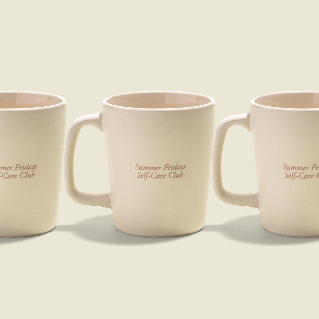 Ceramic cups with handle