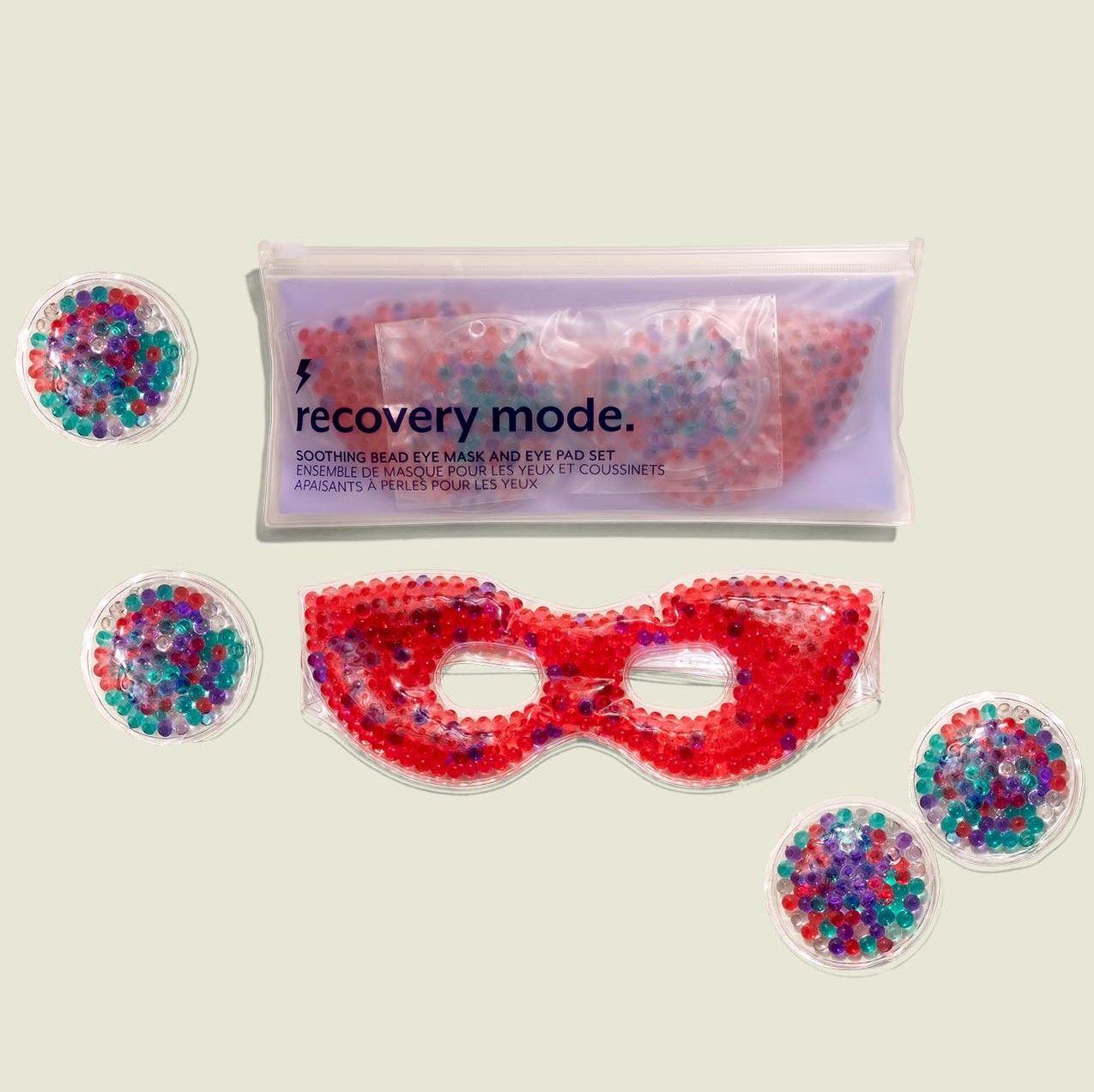 Custom packaging with bead eye mask and bead eye pads