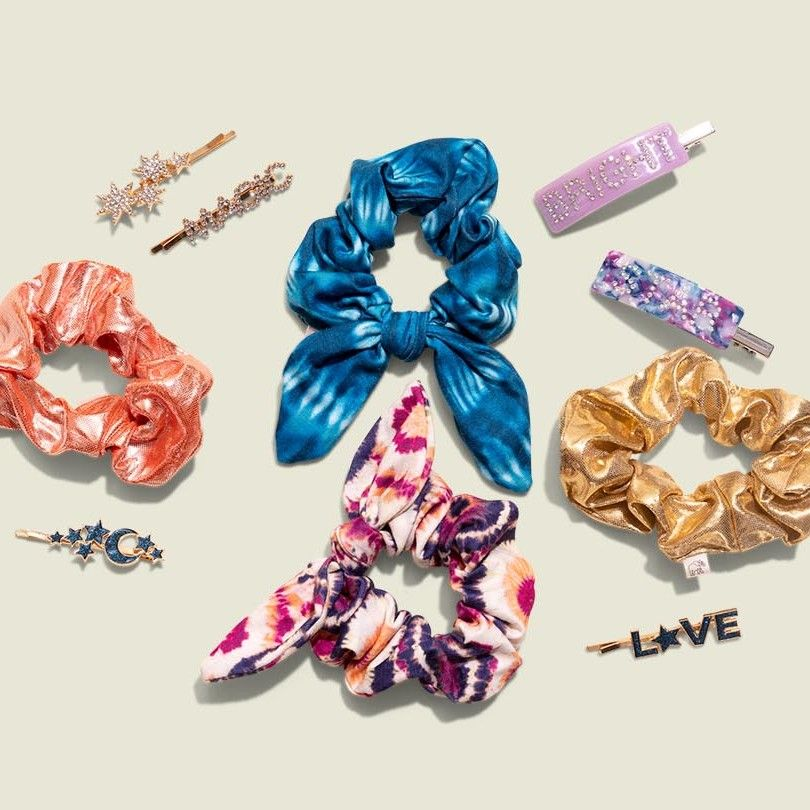 Scrunchies and hair clips