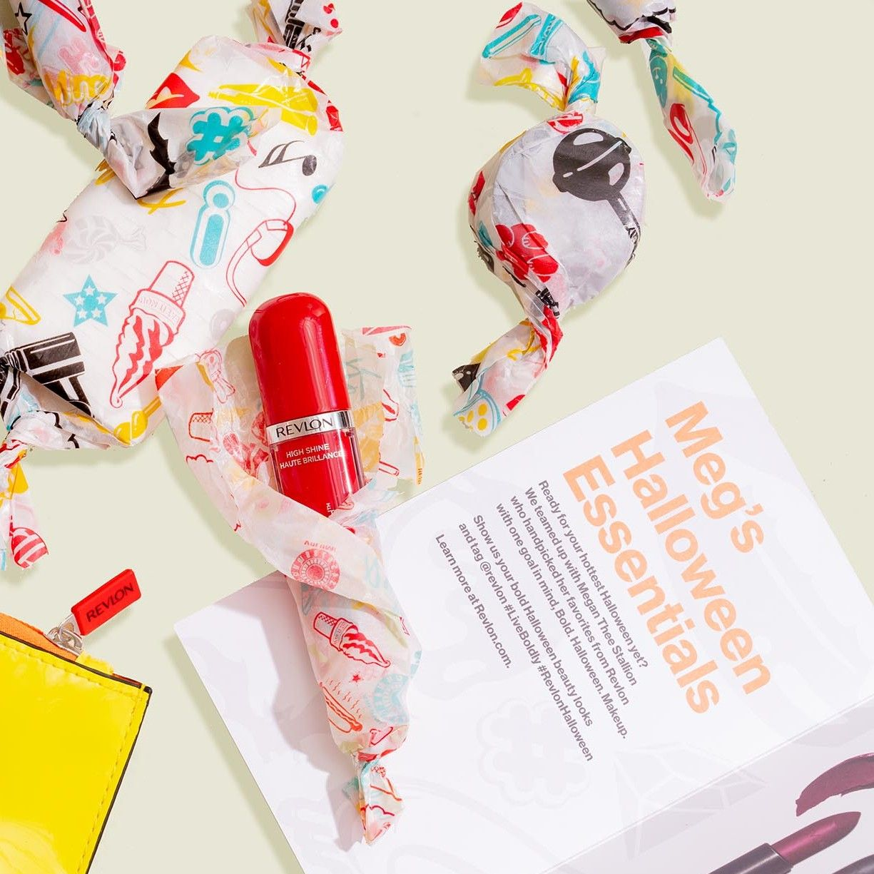 Custom wrapped beauty products with pouch