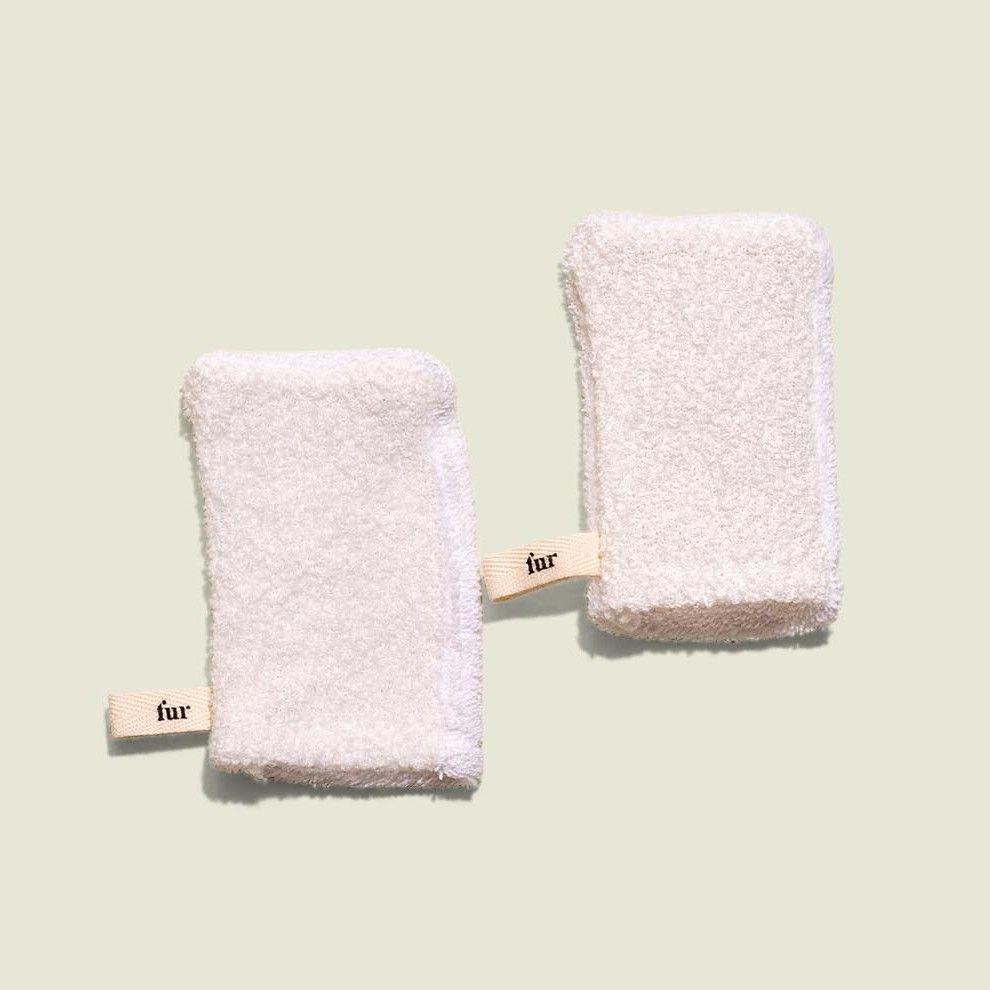 Non-zip flat fur pouch