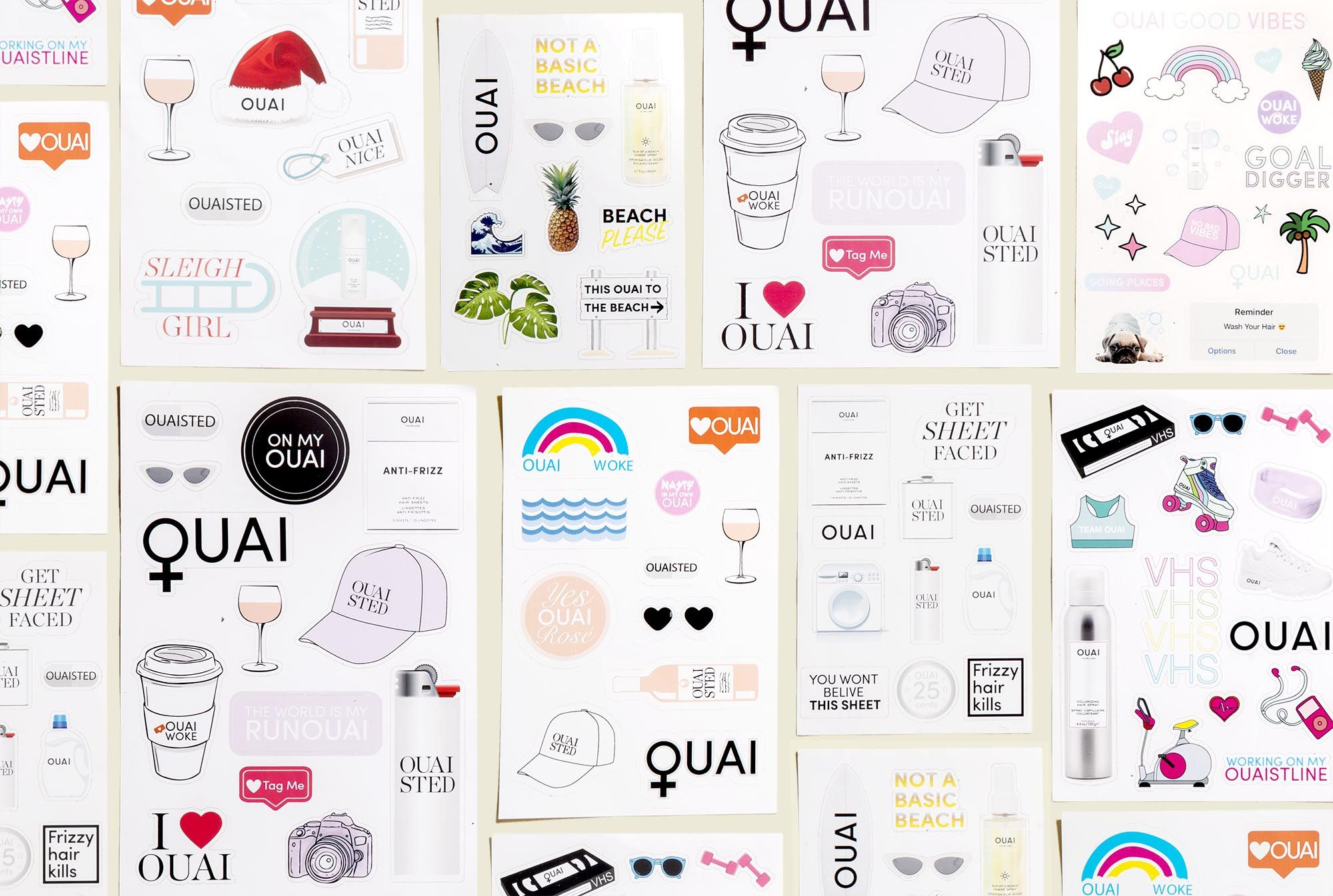 Collection of stickers