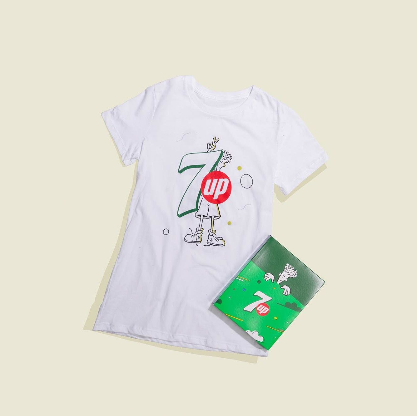 T-shirt with custom packaging