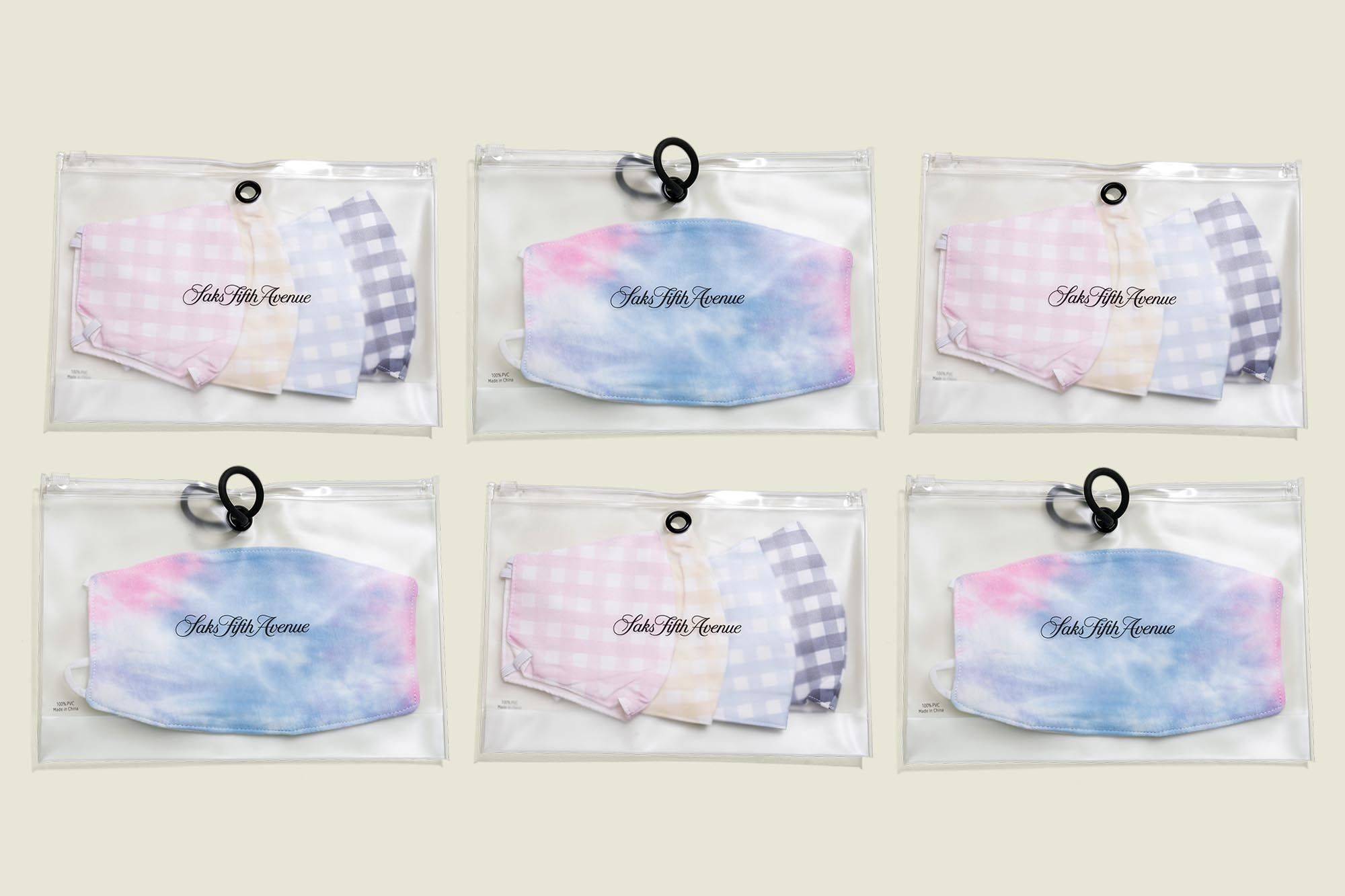 Face masks packaged in d in ziplock bag