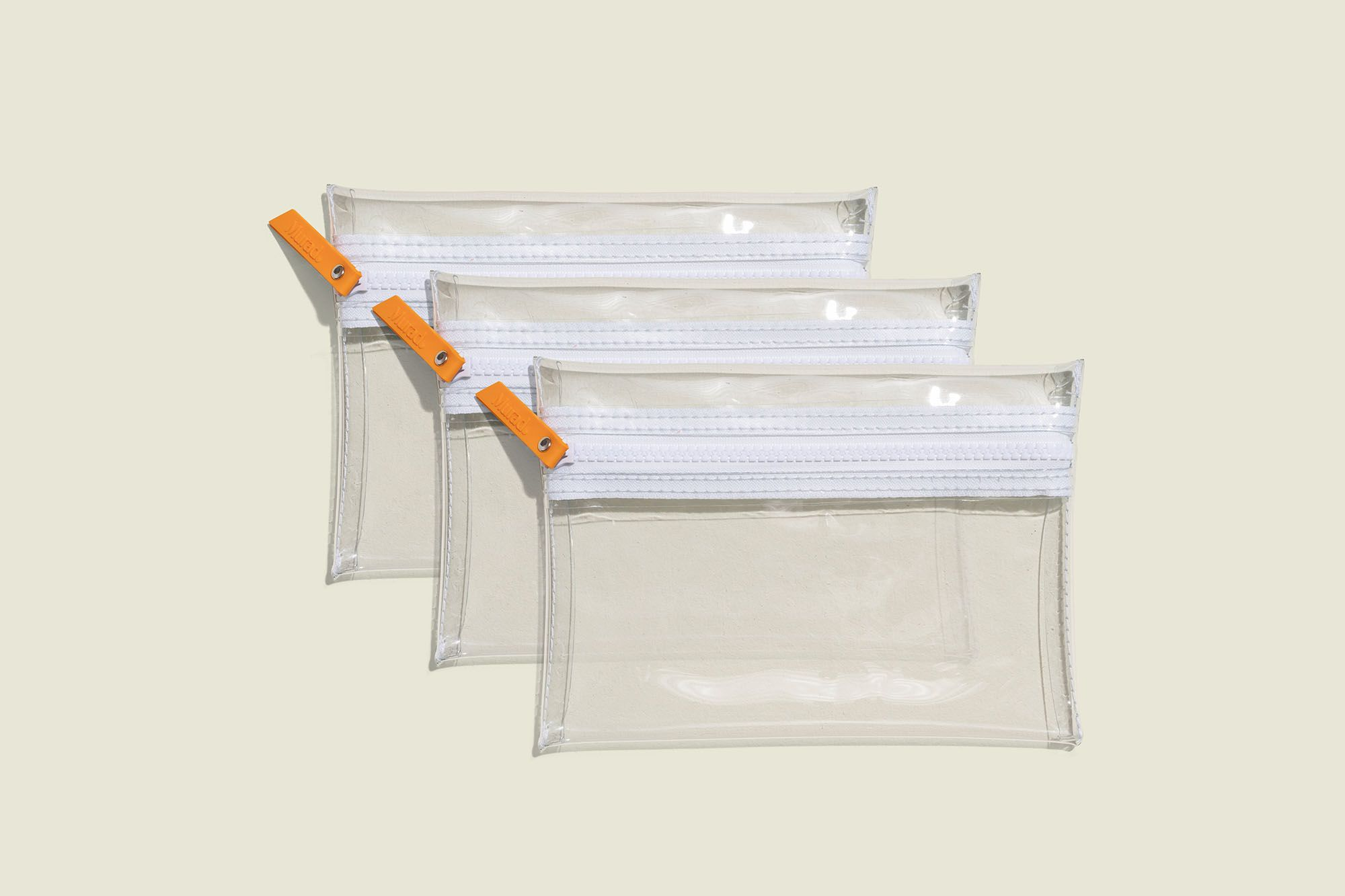 Clear zip pouches