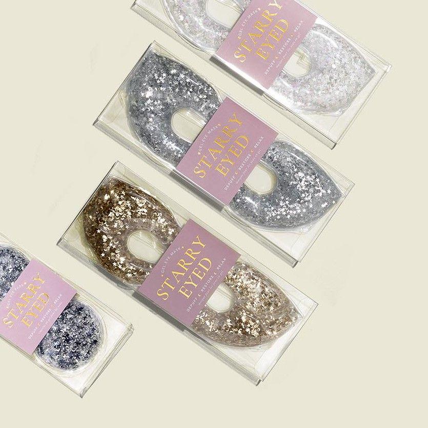 Custom packaging with glitter eye mask