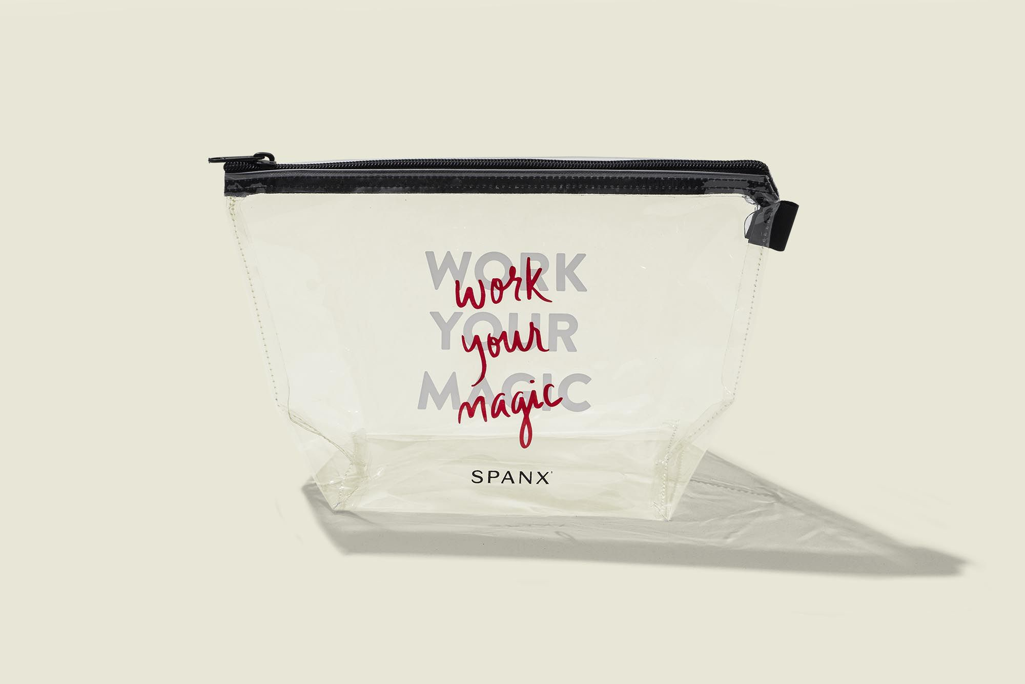 Clear zip pouch