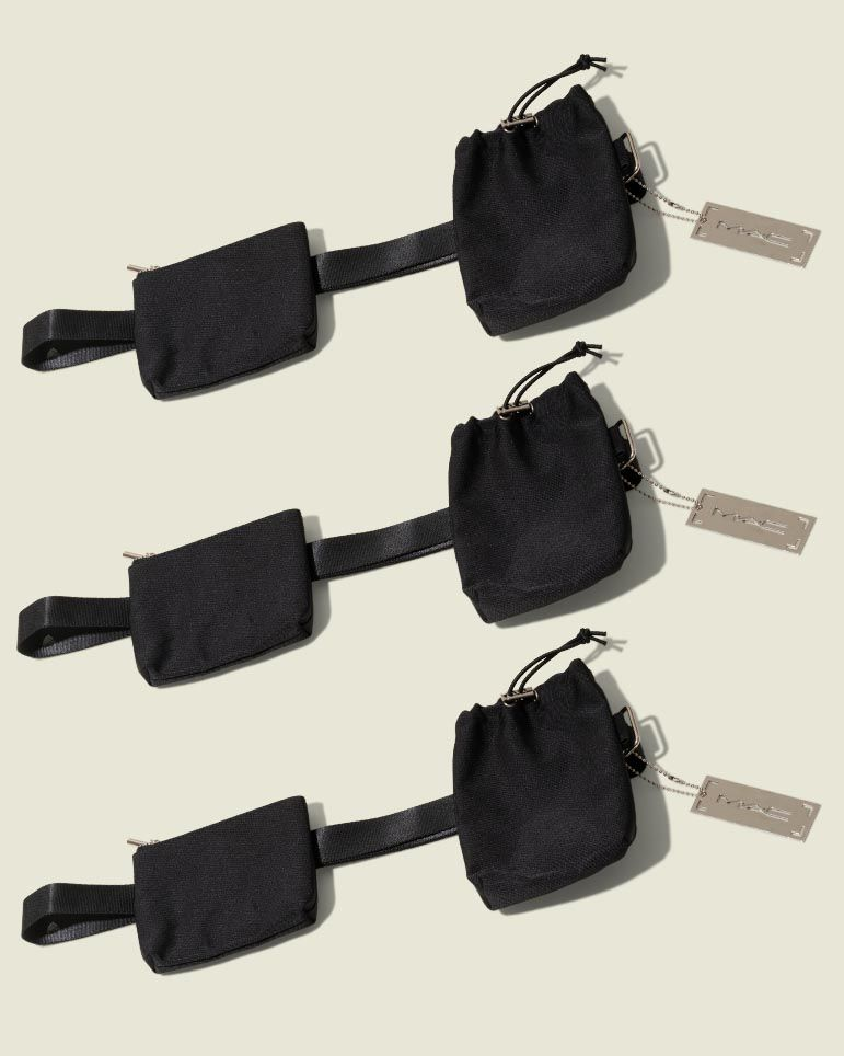 Zip pouch with drawstring pouch
