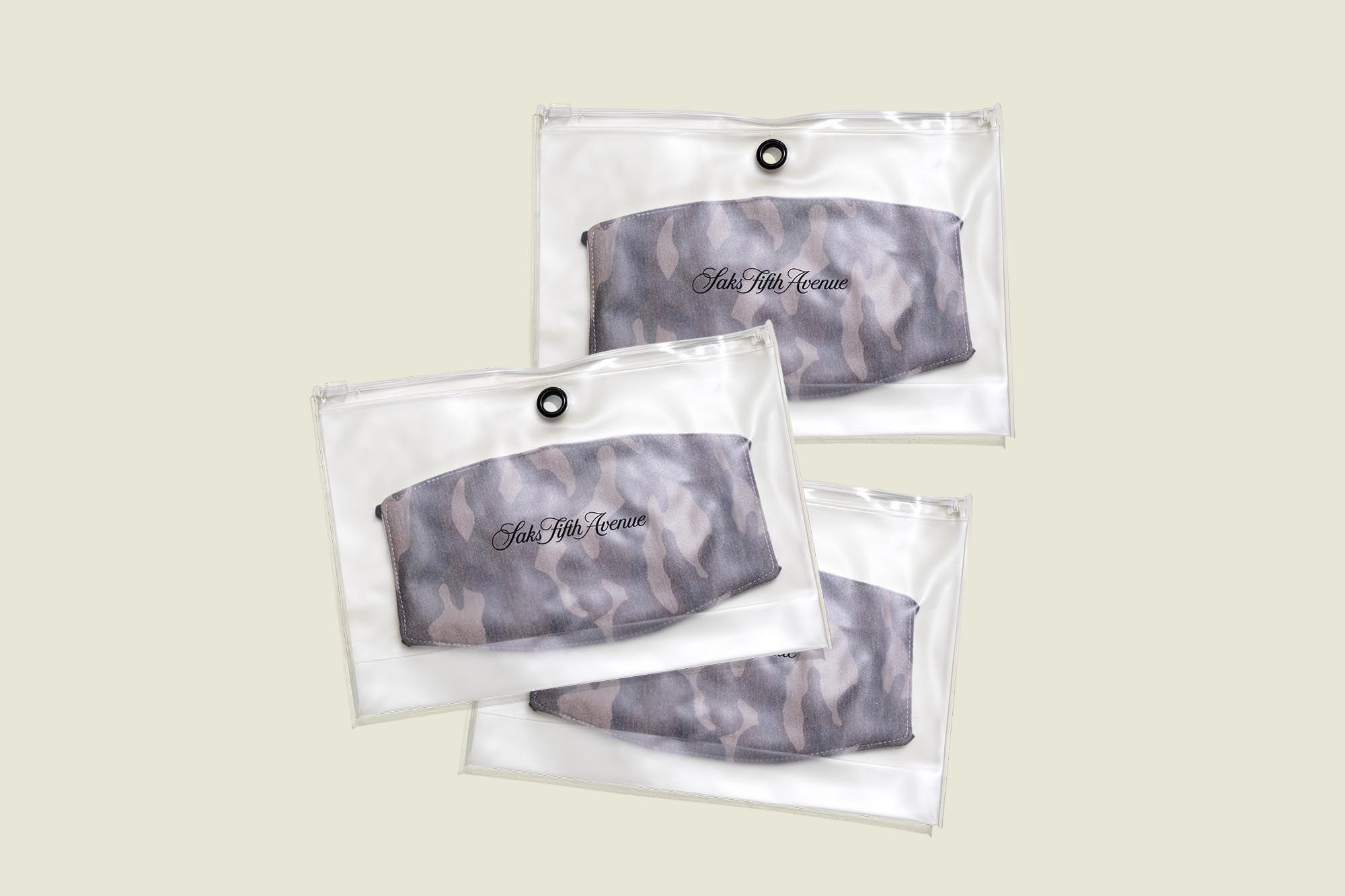 Face mask packaged in ziplock bag