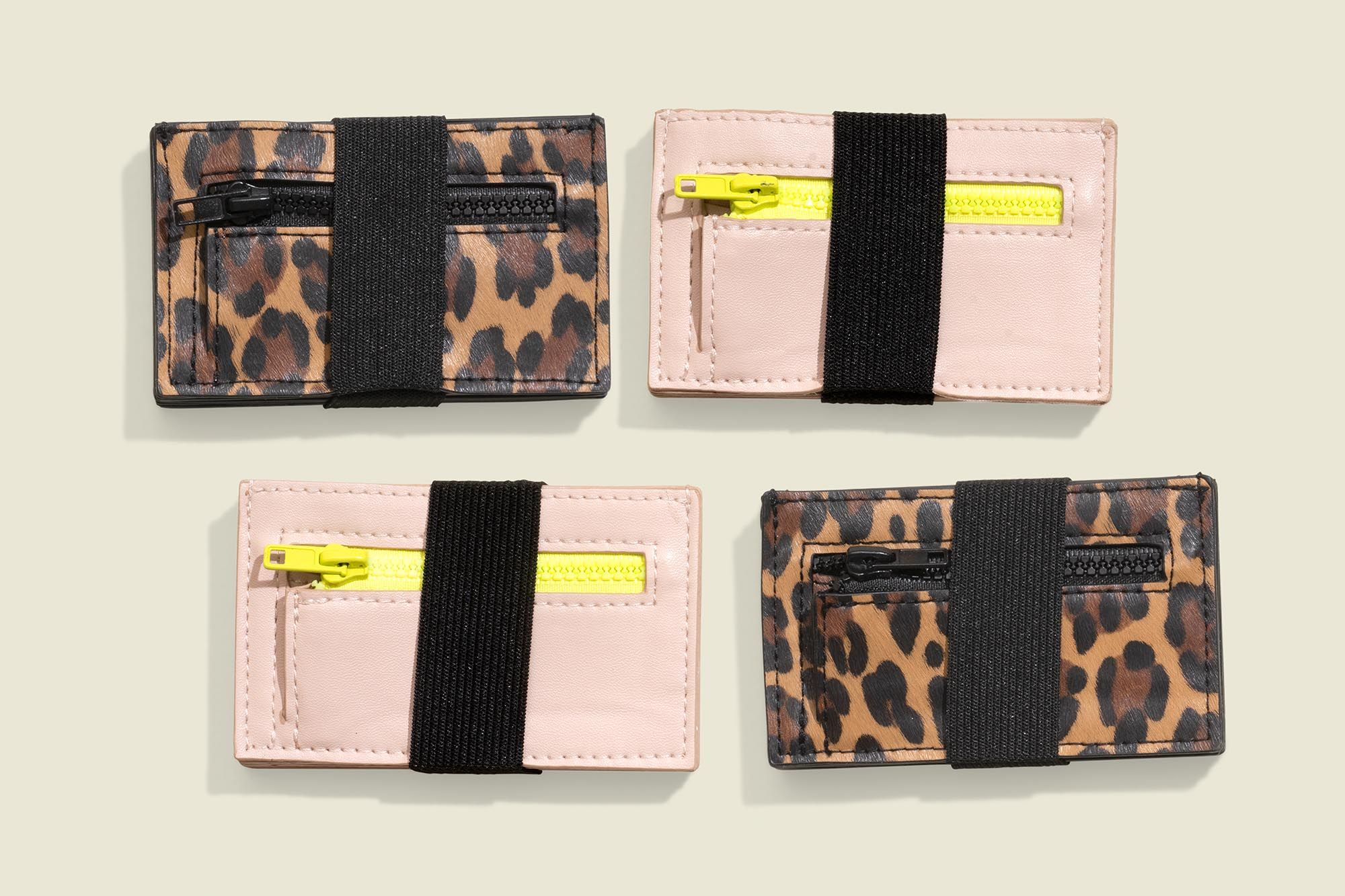 Set of four small pouches