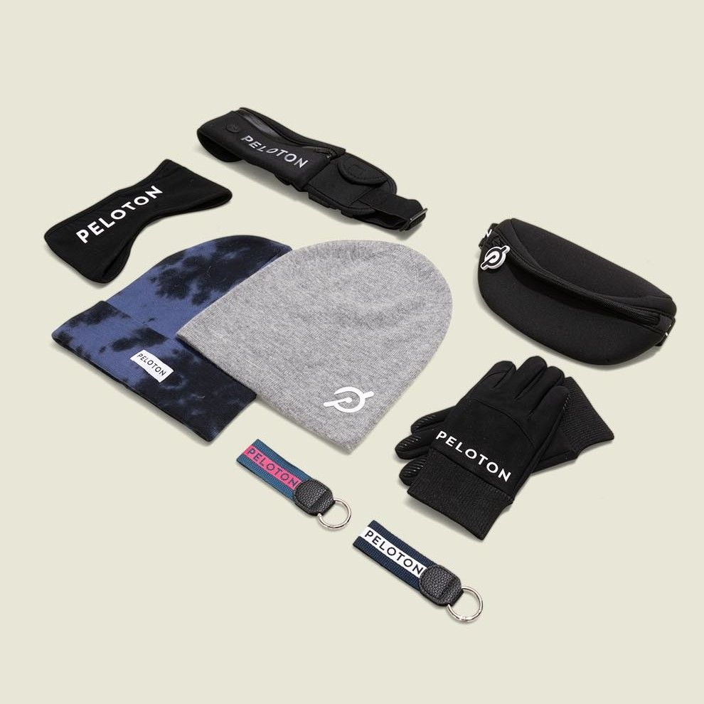 Beanies with fanny pack and exercise accessories