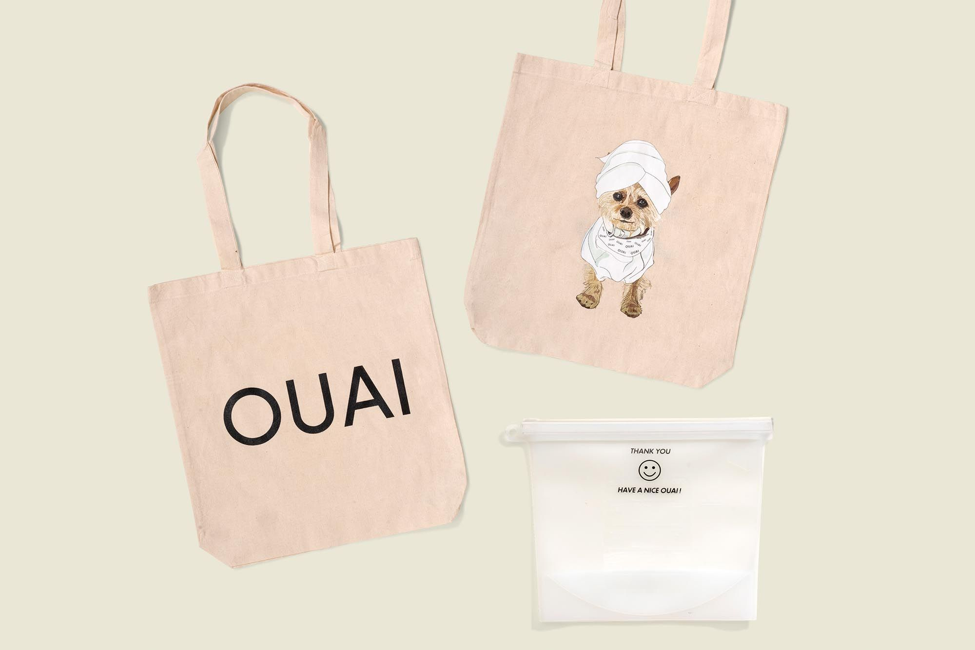 Set of tote bags with pouch